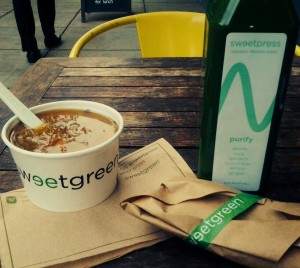 The author's lunch on an autumn day at the Sweetgreen in the West End neighborhood of DC.