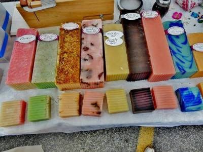 Handmade soaps from a farm in Virginia, sold at the Dupont Circle Farmer's Market in DC.