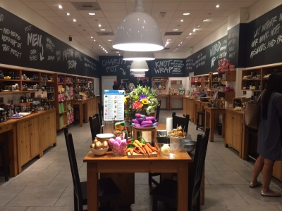A LUSH store the author visited in Santa Monica, California.