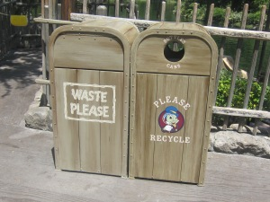 The infamously creative -- and always conveniently-located -- trash cans at Disneyland California.