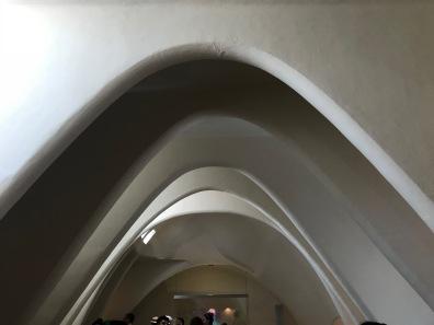 The rib-cage design in the attic.